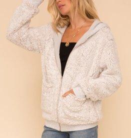 Hem & Thread Hoodie Sherpa Coat