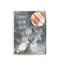 Pen + Pillar Outer Space Birthday Card