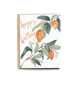Pen + Pillar Lemons Happy Birthday Card