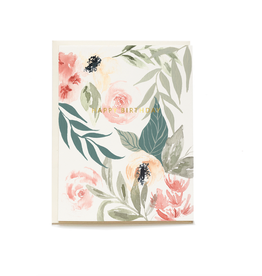 Pen + Pillar Pink Garden Birthday Card