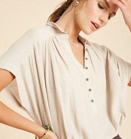 Wishlist Relaxed Short Sleeve Blouse