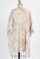 Final Touch Patchwork Print Kimono