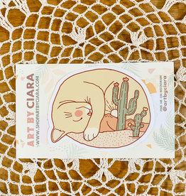 Art by Ciara Desert Cat Sticker