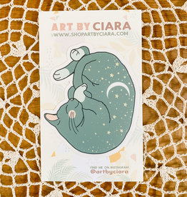 Art by Ciara Night Sky Cat Sticker