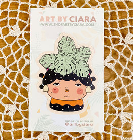 Art by Ciara Plant People Monstera Sticker