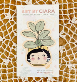 Art by Ciara Plant People Rubber Tree Sticker