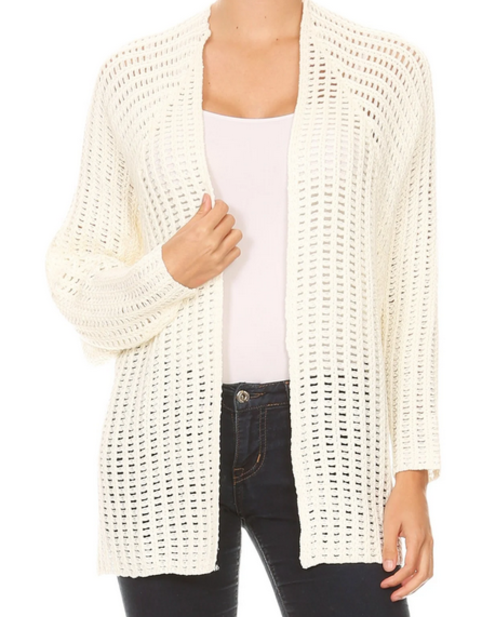 Ginger G Open Knit Cardigan