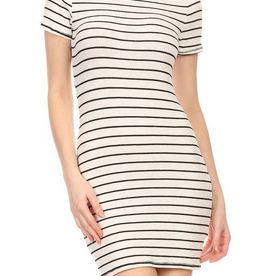 Ginger G Ribbed Stripe Dress