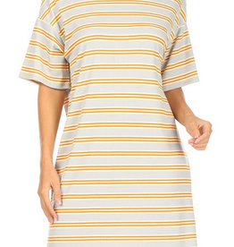 Ginger G Striped T-Shirt Dress