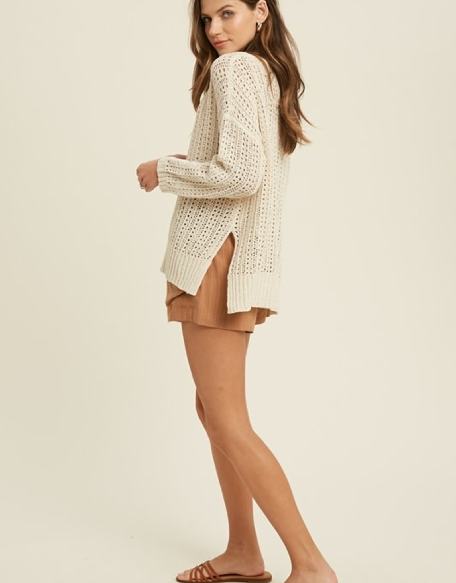 Wishlist Ribbon Knit Pullover