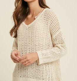 Wishlist Ribbon Knit Pullover