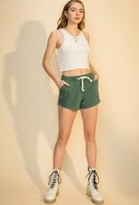 HYFVE Frayed Hem Canvas Shorts