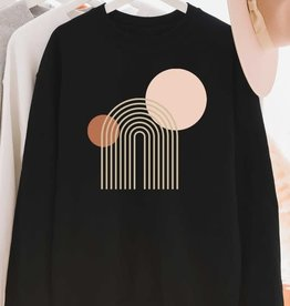 Blume + Co Rainbow Sun + Moon Sweatshirt