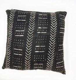 Voyage Mali Mud Cloth Pillow - Black