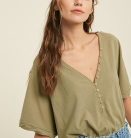 Wishlist Relaxed Button Top