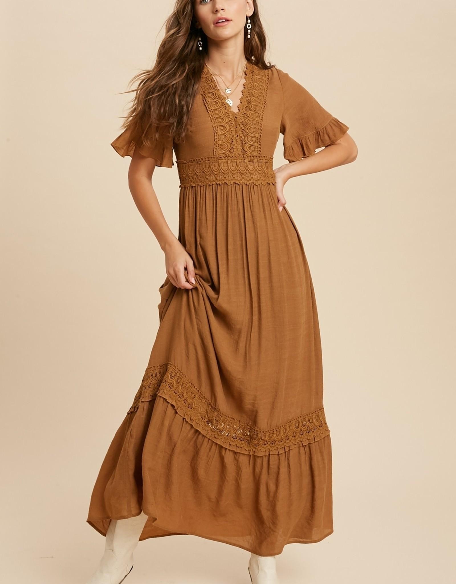 Wishlist Lace Trim Maxi Dress