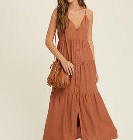 Wishlist Button Up Maxi Dress