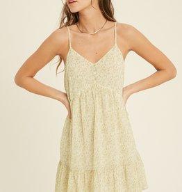 Wishlist Printed Ruffle Mini Dress