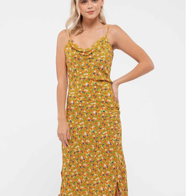Blu Pepper Ruched Side Midi Dress
