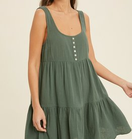 Wishlist Button Baby Doll Dress