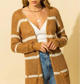 HYFVE Long Striped Cardigan