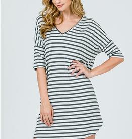 Emma's Closet Striped T-Shirt Dress