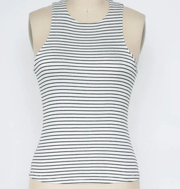 Final Touch Striped High Neck Tank