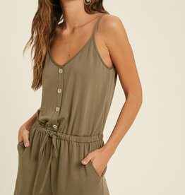 Wishlist Buttoned Up Romper