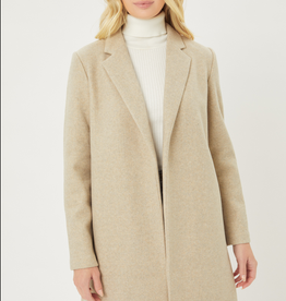 Love Tree Long Felted Trench Coat