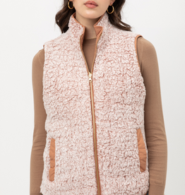 Love Tree Quilted Sherpa Vest