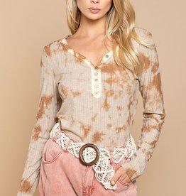 POL Clothing Boho Tie Dye Top