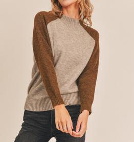 Lush Mock Neck Raglan Sweater