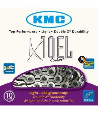 Cadena KMC X10SL Chain: 10 speed 116 Links Silver