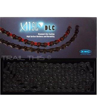Cadena KMC X11SL Chain: 11-Speed 116 Links DLC Black