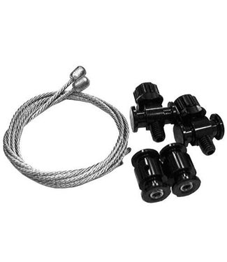 TRP TRP Eurox Barrel Adjuster Kit Black, Includes 2 barrel adjusters and 2 straddle cables