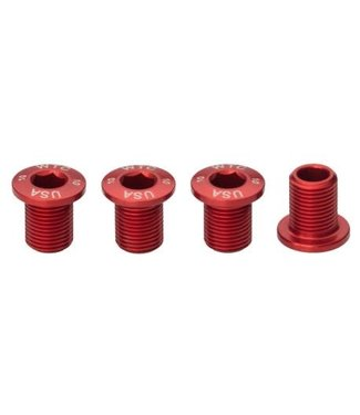 Wolf Tooth WOLF TOOTH JGO. 4 TORNILLOS 10MM PARA PLATO 30T ROJO