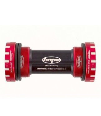 Hope BOTTOM BRACKET STAINLESS STEEL 68/73/83MM - RED 30 MM