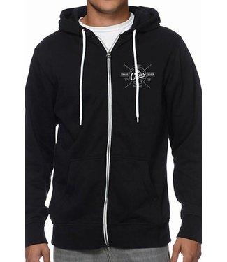 Intense Shirt Sueter Hoodie Trademark Zip MD Black Negro