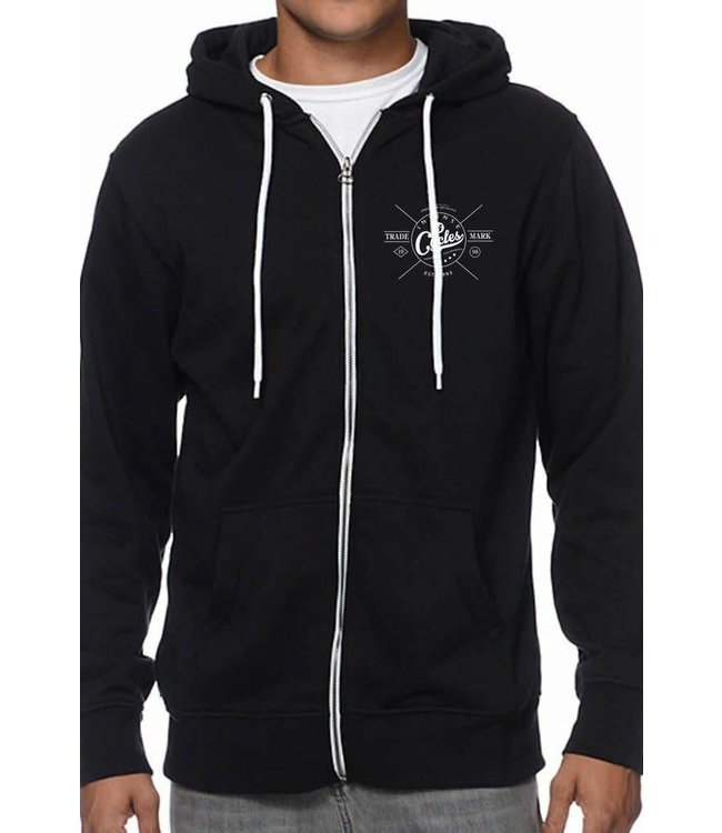 Intense Shirt Sueter Hoodie Trademark Zip MD Black Negro