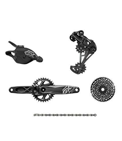 SRAM Grupo SRAM GX Eagle DUB Groupset: 175mm 32 Tooth Crank, Rear Derailleur, 10-50 12-Speed Cassette, Trigger Shifter, and Chain