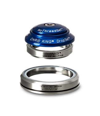"Chris King Components Chris King Dropset 1 Tapered Headset 41/52mm, for Tapered 1-1/8"" steerer, Navy"