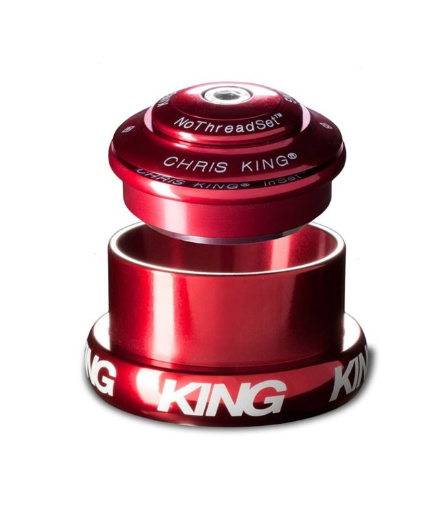 Chris King Components Chris King InSet 3 Mixed Tapered Red Headset InSet Upper/Traditional Lower Cup