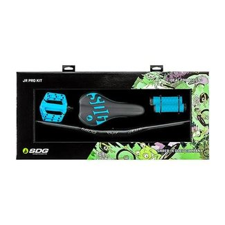 SDG Jr Pro Kit (Pedals, Bars, Grips, Saddle) Cyan Blue