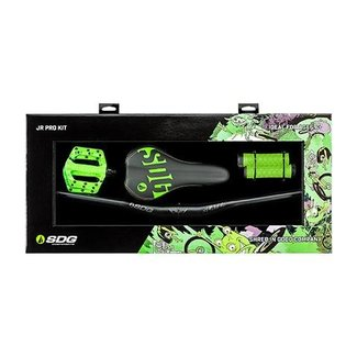 SDG Jr Pro Kit (Pedals, Bars, Grips, Saddle) Neon Green