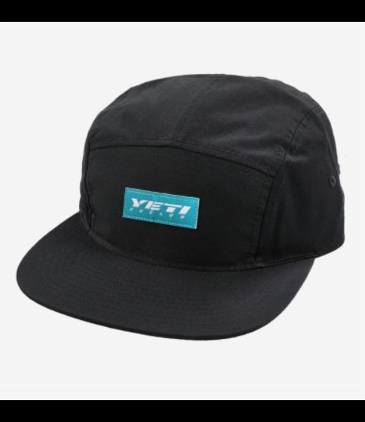 Yeti Cycles HAT SLANT YETI BLACK 5 PANEL
