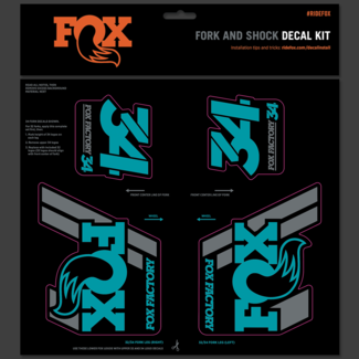 Fox Racing Shox FOX DECAL 2019 AM HERITAGE, FORK AND SHOCK KIT