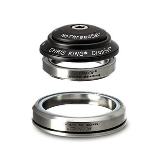 "Chris King Components Chris King Dropset 3 Tapered Headset 41/52mm, for Tapered 1-1/8"" steerer, Matte Jet"
