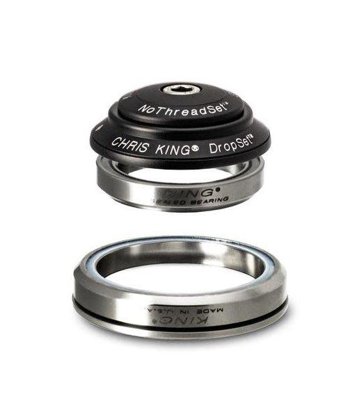 "Chris King Components Chris King Dropset 3 Tapered Headset 41/52mm, for Tapered 1-1/8"" steerer, Matte Jet"