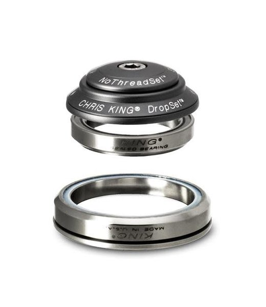 """Chris King Components Chris King Dropset 3 Tapered Headset 41/52mm, for Tapered 1-1/8"""" MATTE SLATE"""