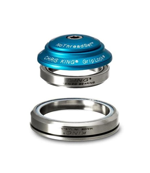 """Chris King Components Chris King Dropset 3 Tapered 41/52mm, 1-1/8"""" MATTE TURQUOISE"""